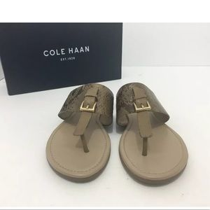 🆕Cole Haan Brown Snake Leather slip on Flats